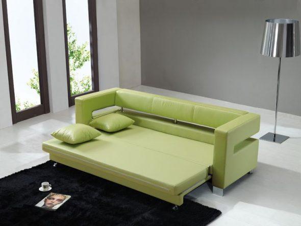 диван фисташкового цвета