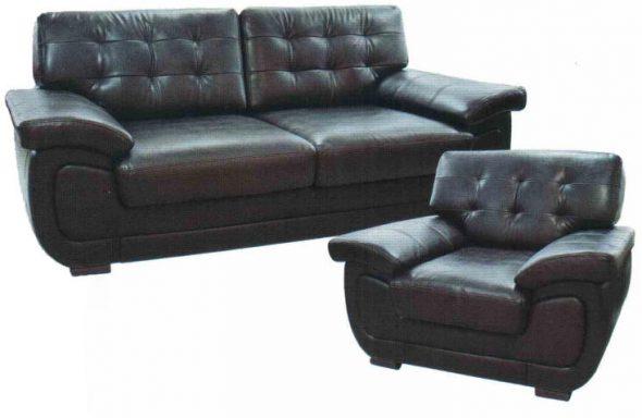 диван из экокожи черный