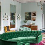 зеленый диван дизайн