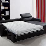 диван французская раскладушка черный