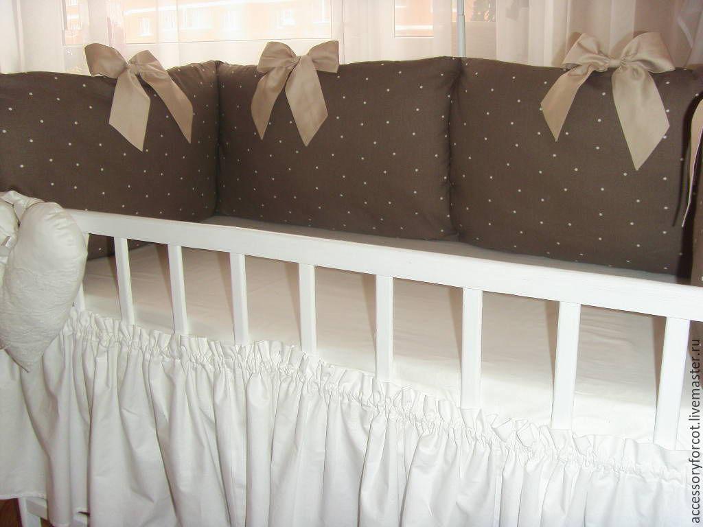 Бортики кроватку новорожденного своими руками фото 580