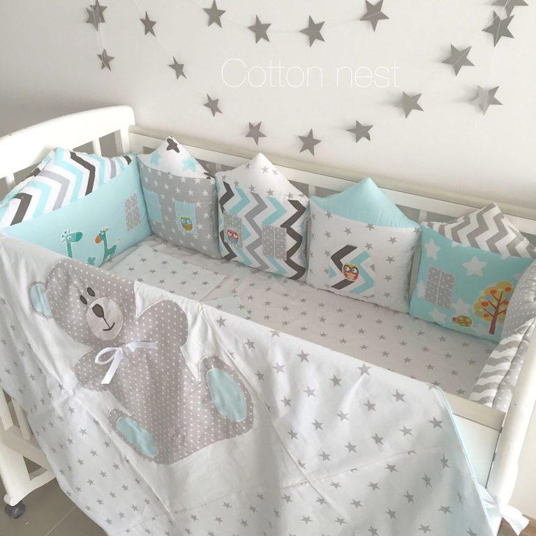 Борта на кроватку для новорожденных своими руками