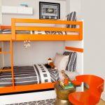 двухъярусная кровать оранжевая