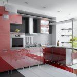 дизайн кухни глянцевый