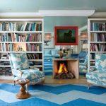 книжный шкаф в гостиной