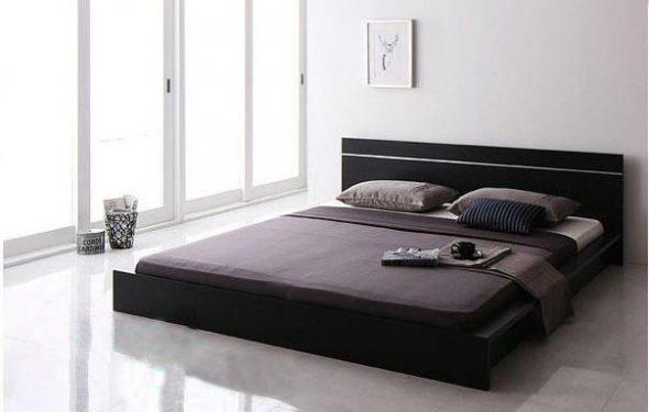 низкая кровать модерн