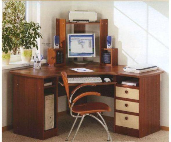 компьютерный стол угловой своими руками