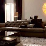 коричневый диван современный дизайн
