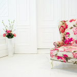кресло английское розовое