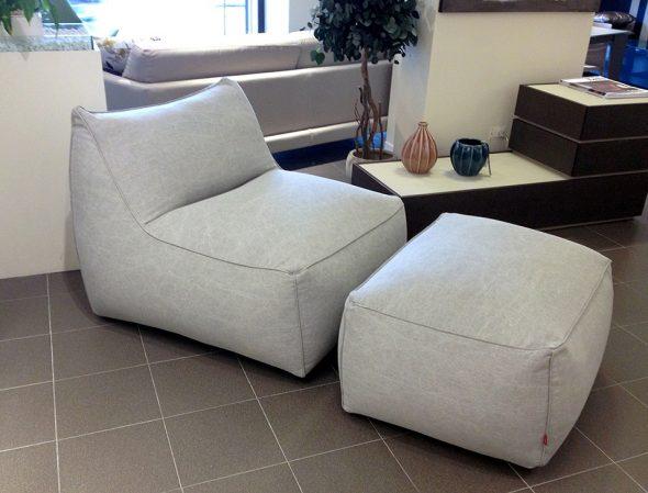 кресло с пуфом лофт