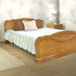 кровать из дерева березы