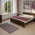 кровать из дерева двуспальная