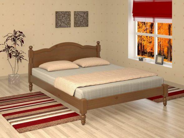 интерьер спальни с кроватью