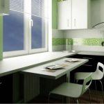 кухня глянцевая столешница