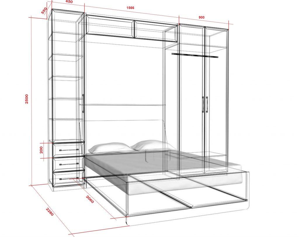 Шкаф-кровать-трансформер чертежи