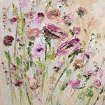 пастозная рельефная объемная живопись маслом цветы