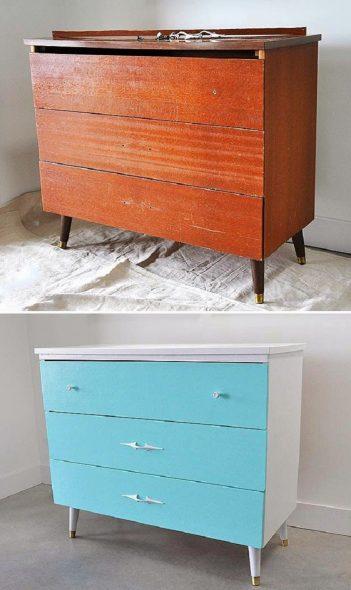 переделка старой мебели своими руками до и после
