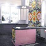кухня с глянцевой столешницей
