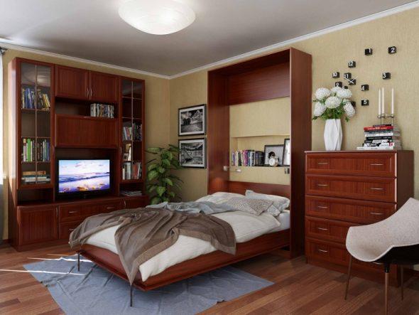 кровать шкаф из дерева