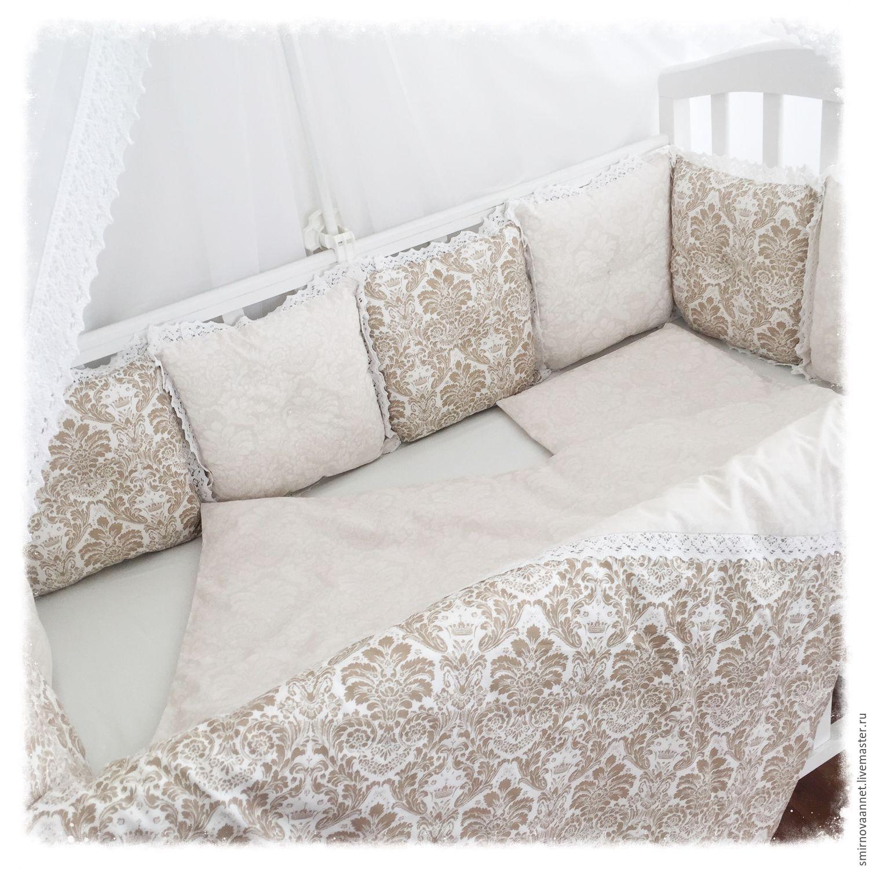 Бортики кроватку новорожденного своими руками фото 240