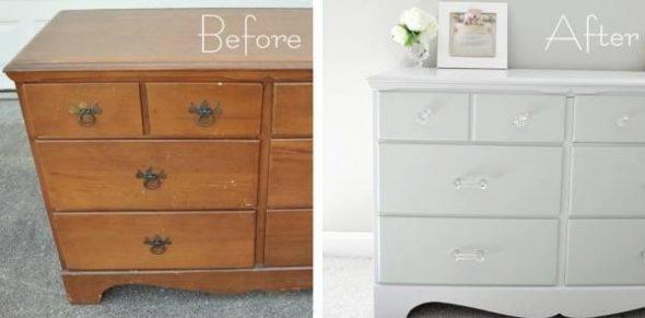 реставрация комода до и после