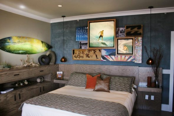спальня подростка в пляжном стиле