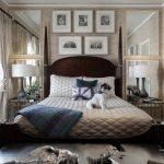 спальня с зеркалом дизайн интерьера