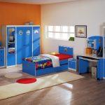 комната подростка синяя мебель