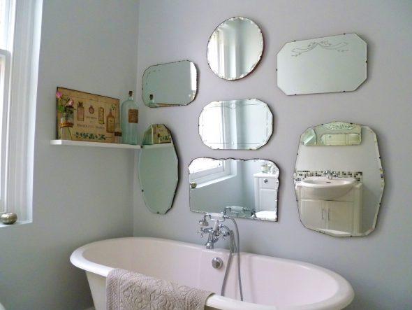 ванна с зеркалами
