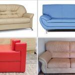 варианты дивана с экокожи