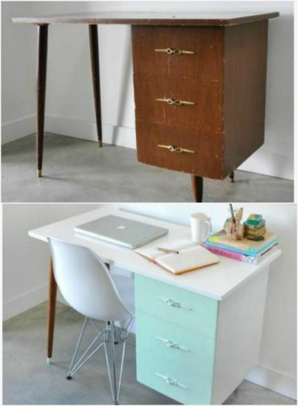 вдохновляющие примеры переделки старой мебели