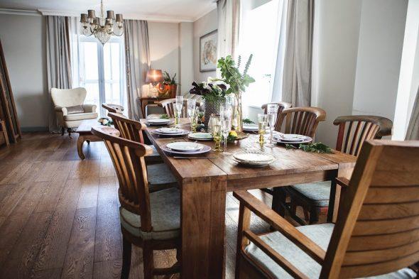 воскресные семейные обеды за большим столом
