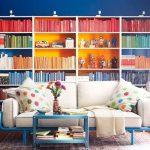 книжный шкаф яркий