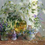 живопись маслом цветов