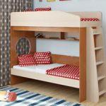 Кровать двухъярусная с диван-кроватью (клик-клак)