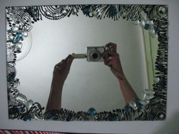 Декор зеркала камнями своими руками