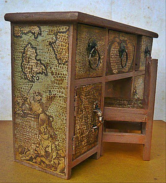 Декорирование мебели своими руками-комод