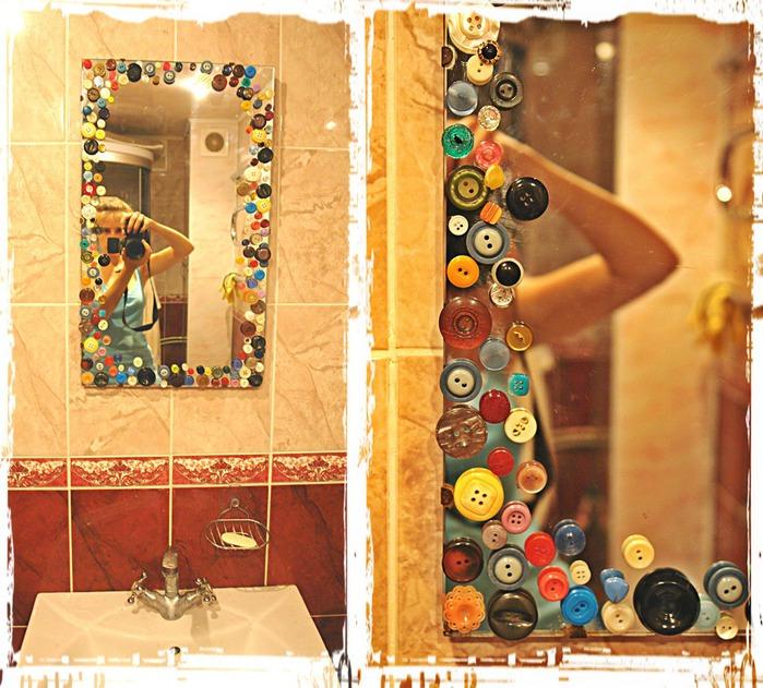 Идея для декора зеркала своими руками 79