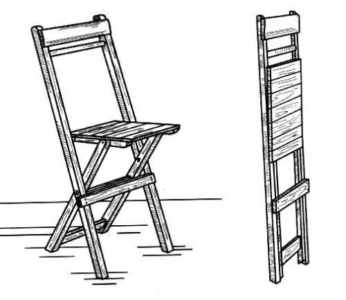 Делаем деревянный складной стул со спинкой своими руками