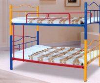 Детские двухъярусные металлические кровати