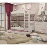Двухъярусная кровать 180 см в из массива бука в комнату для девочек