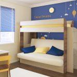 Двухъярусная кровать с диваном Карамель