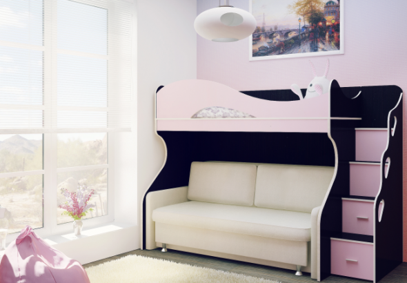 двухъярусная кровать с диваном преимущества и недостатки модели