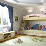 Двухъярусная кровать с диваном внизу - лучший вариант для небольших квартир