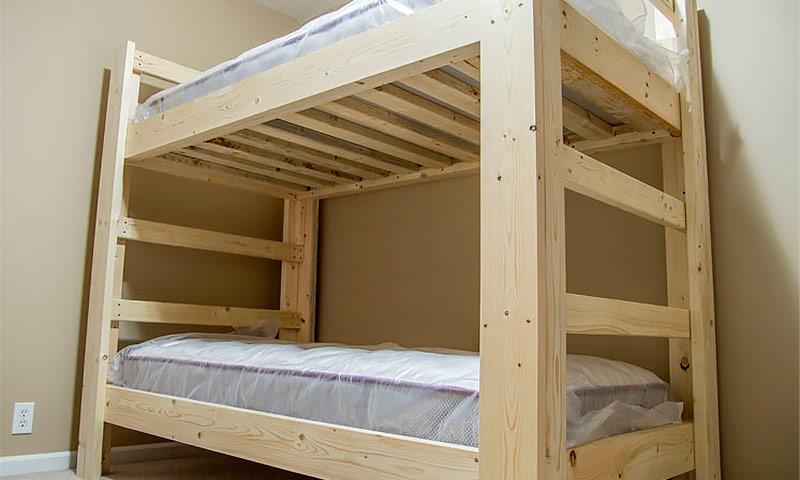 Как сделать детскую кровать двухъярусную кровать