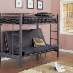 Двухъярусная металлическая кровать с диваном фото