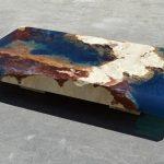 Кофейный столик в стиле океана из камня и смолы