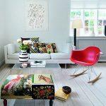 кресло качалка красного цвета