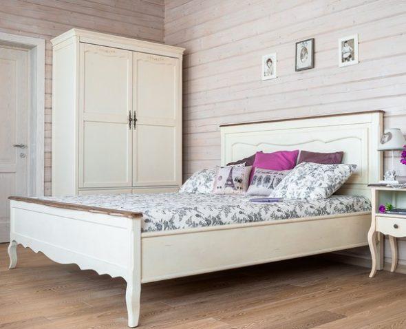 Кровать 150х200 Blanc bonbon 9341S