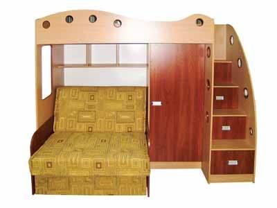 Кровать-чердак Каспер-2 с диваном малюткой